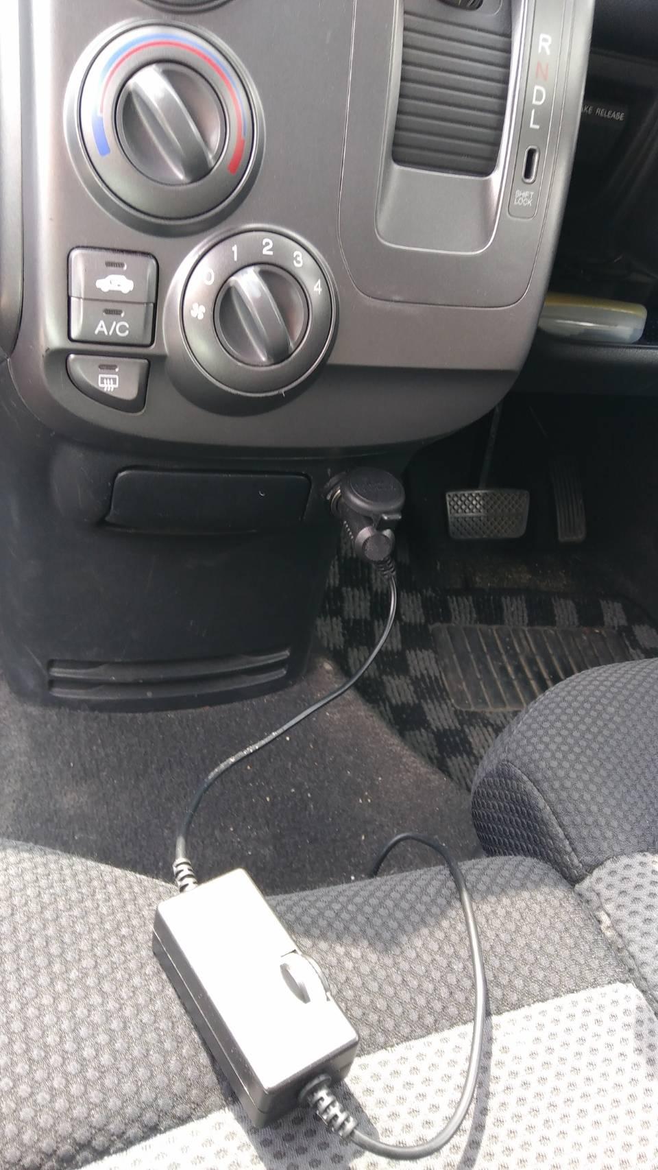後部座席用扇風機